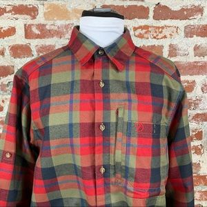 Fjall Raven Men's Red Blue Plaid Long Sleeve Top M